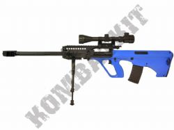 AUG-5 Sniper Style Rifle Electric Airsoft Gun Black and Blue